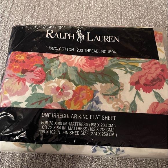 Ralph Lauren king flat sheet